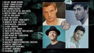 The Best Of Enrique Eglesias, Nick Carter, Jason Mraz & Others   Non-Stop Playlist