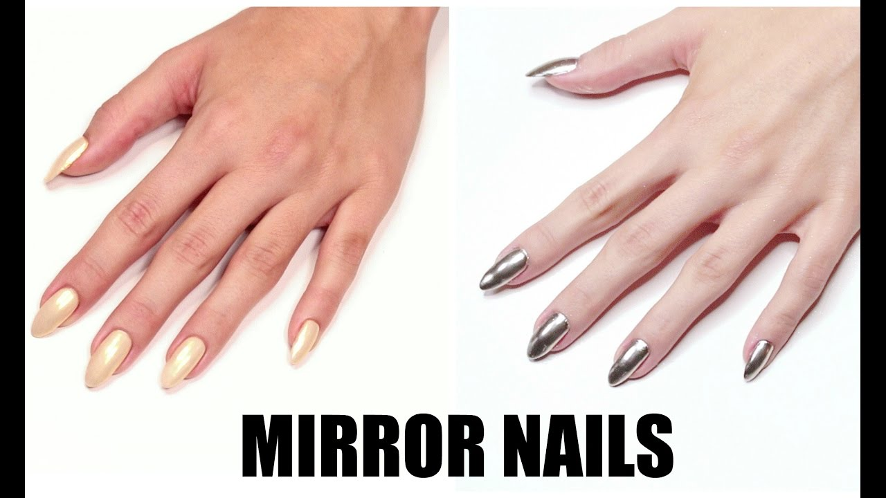 Mirror Chrome Nails Lustrzane Paznokcie Youtube