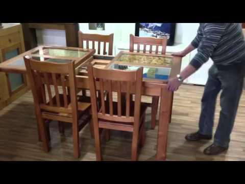 Oferta mesa extensible 140 x 90 abierta a 190 y 4 sillas for Oferta sillas madera