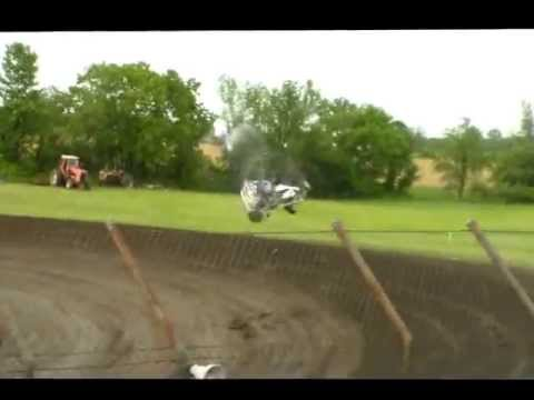 7 Flip Sprint Car Wreck