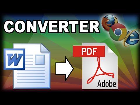 Converter arquivo Word (doc) para PDF sem programa