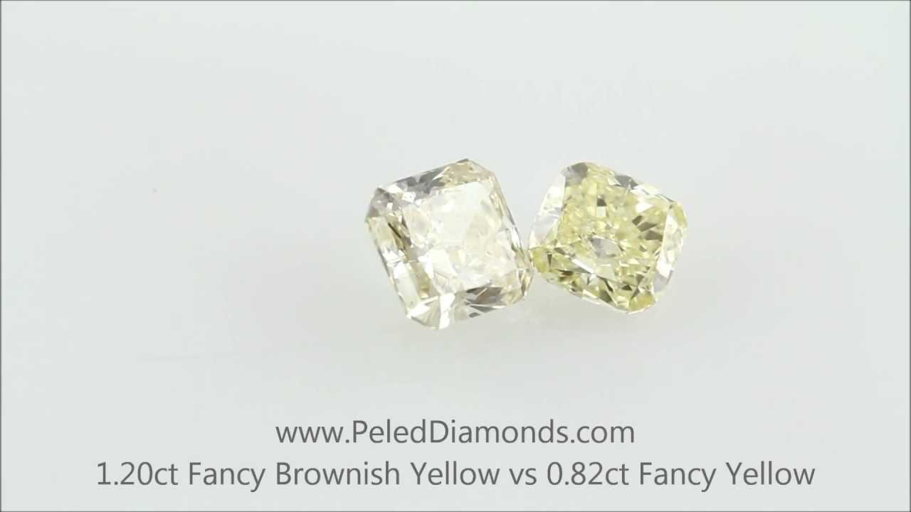 carat yellow fancy brownish shape round clarity diamond