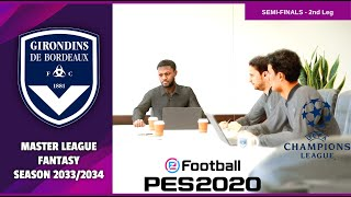 eFootball 2020 | Master League Fantasy Season 2033/2034 | Bordeaux vs Barcelona | HD
