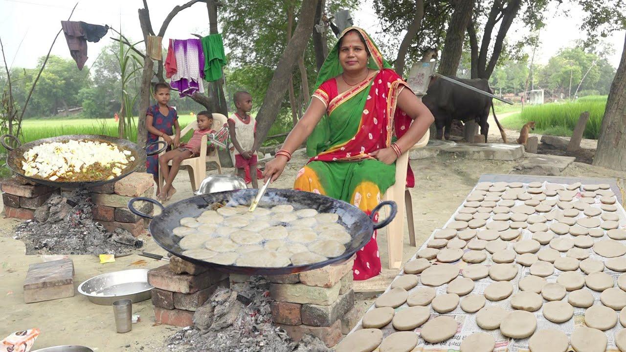 बच्चो के लिये बनया पनीर की सब्जी पूरी और मीठे में बुदी तो बच्चो ने मांग मांग के खाया Paneer ki Sabzi
