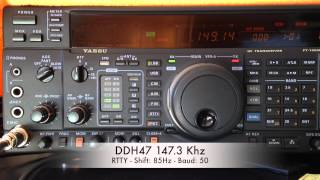 DDH47 RTTY Reception on 147.3 Khz