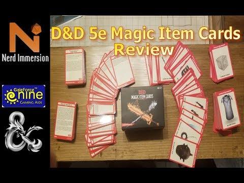 D&D 5e Magic Item Cards Review   Nerd Immersion