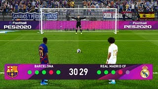 PES 2020 | Longest Penalty Shootout Ever | Barcelona vs Real Madrid | El Clasico Gameplay PC