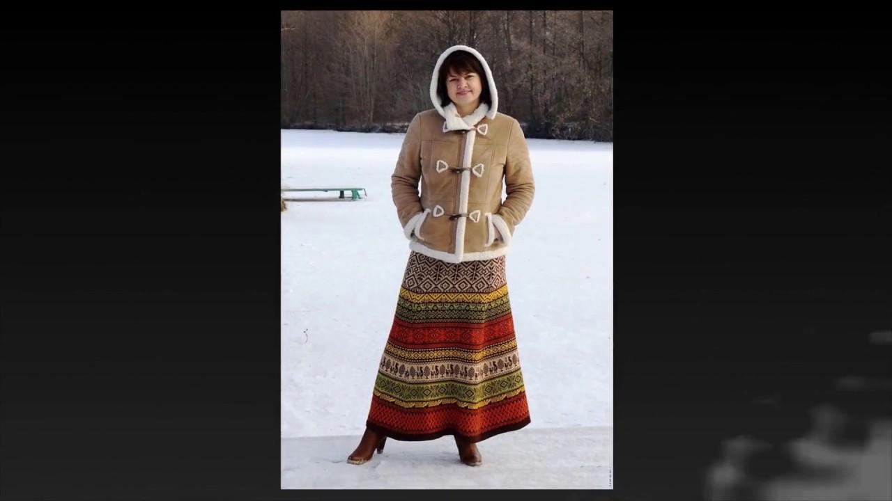 Длинная вязаная юбка  норвежскими узорами/Norwegian knitted long skirt