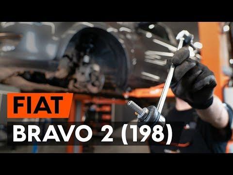 Kā Nomainīt Priekšējās Stabilizatora Atsaite FIAT BRAVO 2 (198) [AUTODOC VIDEOPAMĀCĪBA]