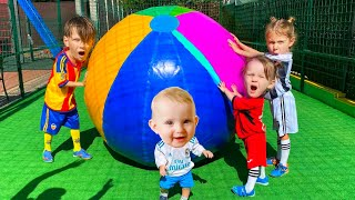 Five Kids Let's play Football Song Children's Songs and Videos