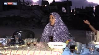 غزة.. عائلات تفطر على أنقاض منازلها