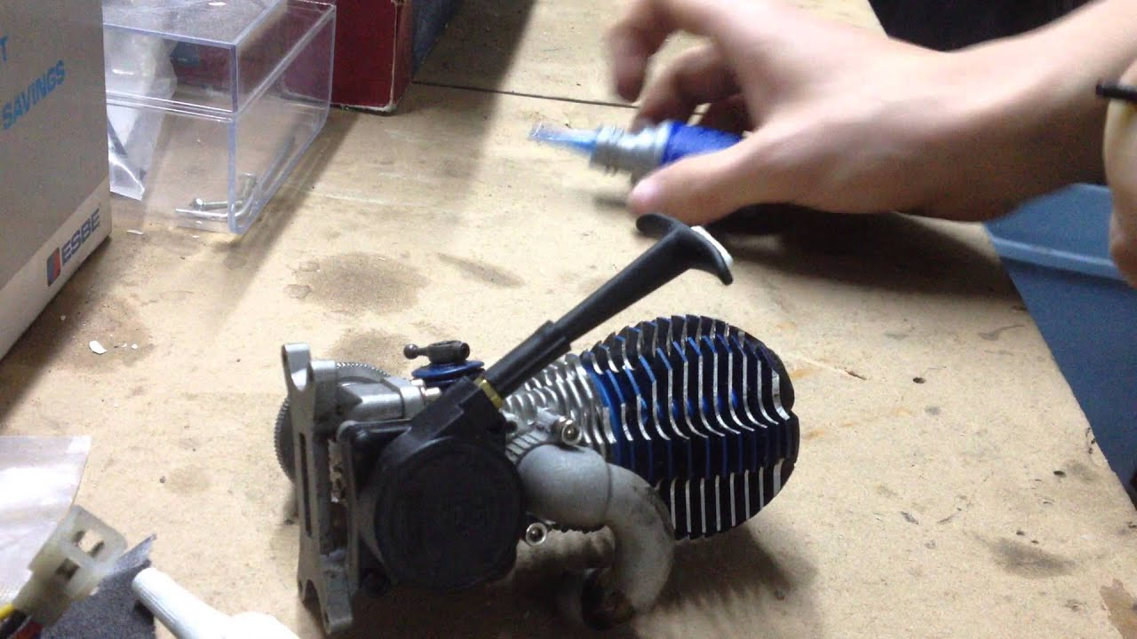 how to instal pull start to rc nitro engine traxxas trx 3 3