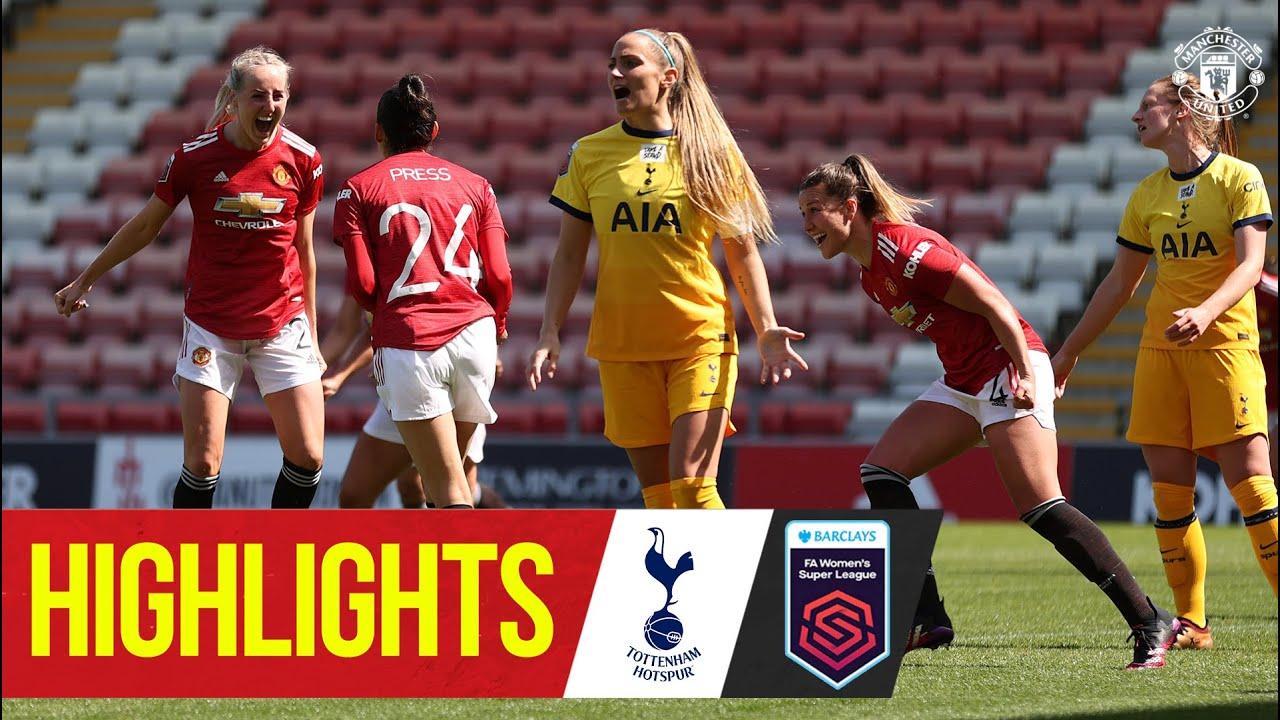 Download Women's Highlights | Manchester United 4-1 Tottenham Hotspur | FA Women's Super League