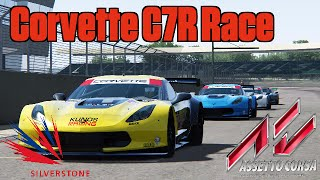 Assetto Corsa - Corvette C7R Race (Drivers Eyes) - Silverstone Circuit