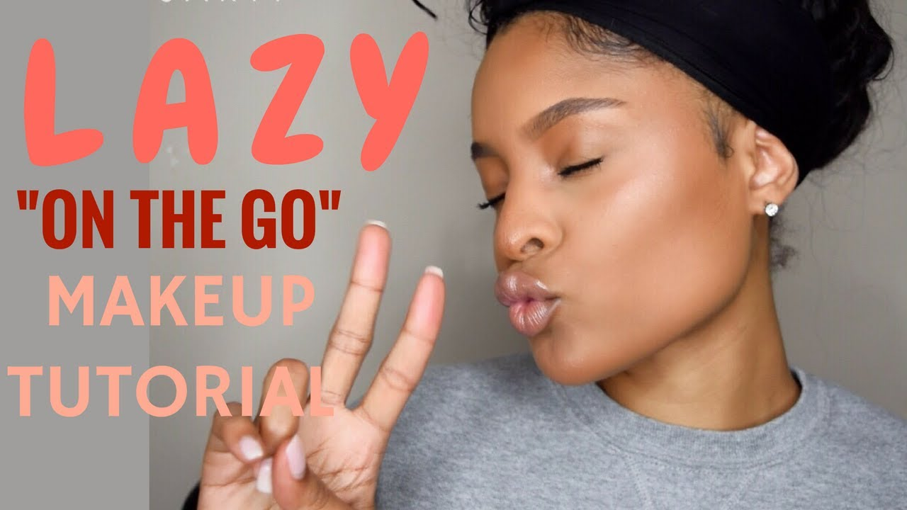 Lazy On The Go 5 Minute Makeup Tutorial Youtube