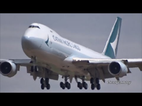 Cathay Pacific New Livery Boeing 747-8 Missed Approach / Touch n' Go  Landings