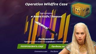 ВЫПАЛ НОЖ Bowie Knife  Патина ЗА 6000 РУБЛЕЙ С КЕЙСА ЗА 200 РУБЛЕЙ