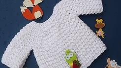 crochet baby sweater  #crochet #majovelcrochet