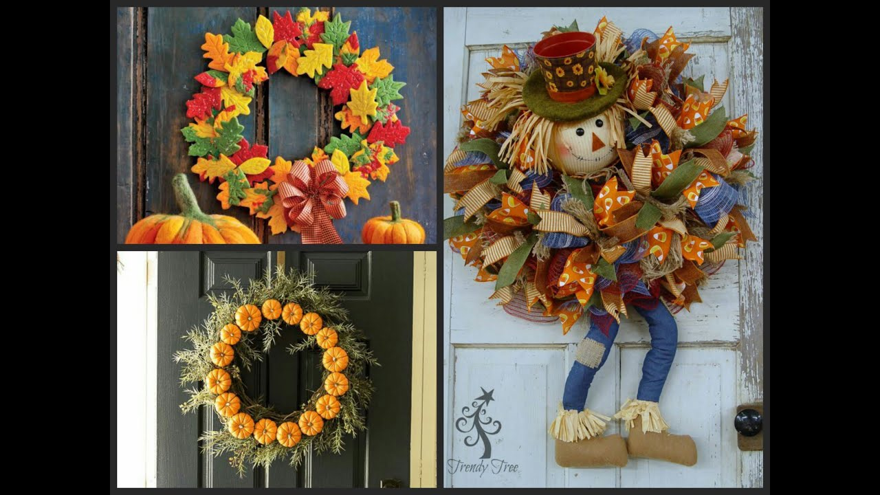 Fall Wreath DIY Inspiration - Fall Decorating Ideas - YouTube