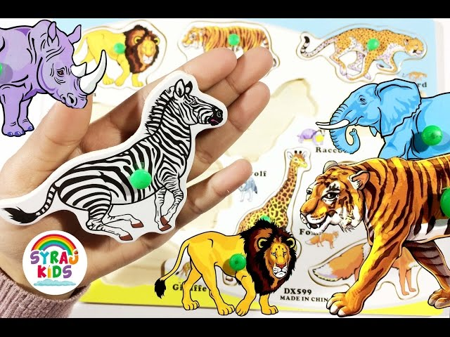 Animals Arabic & English   الحيوانات بالعربية والإنجليزية   Syraj KIDS