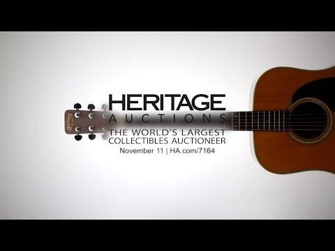 Bob Dylan's historic 1963 Martin acoustic guitar debuts at Heritage Auctions Nov. 11, 2017