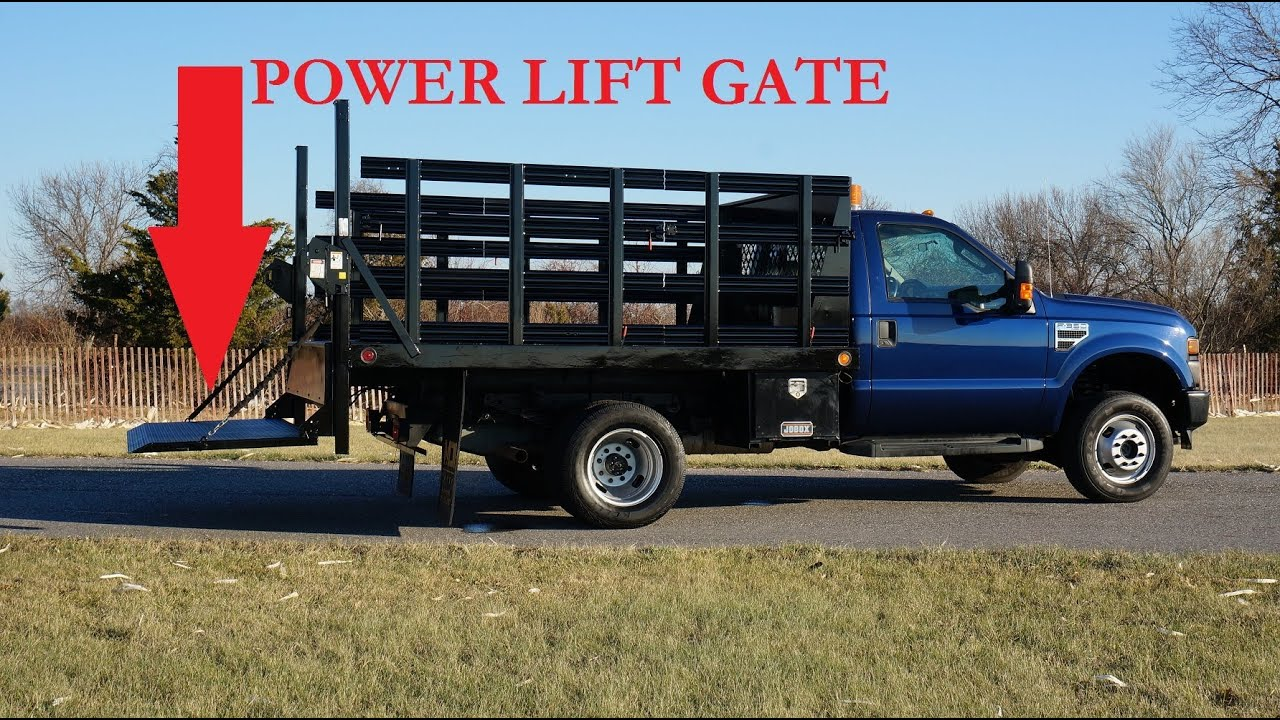 2008 ford f550 4x4 super duty 10 39 rack truck for sale power liftgate 6 8l v10 salvage title. Black Bedroom Furniture Sets. Home Design Ideas