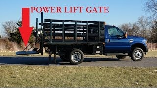 2008 Ford F550 4x4 Super Duty 10' Rack Truck For Sale~power Liftgate~6.8l V10~salvage Title