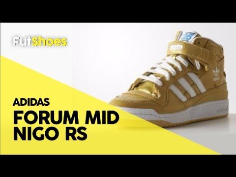 FutShoes - Adidas Forum Mid Nigo RS Gold - Unboxing + On feet