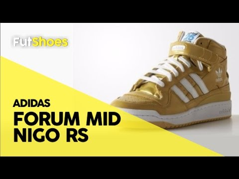FutShoes - Adidas Forum Mid Nigo RS Gold - Unboxing + On feet - YouTube 5096f4bc085de