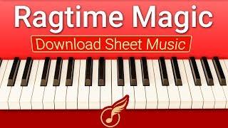 [Ноты фортепиано] для начинающих Ragtime Magic | Музыкальная Академия Глория