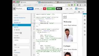 Make custom, reusable components with AngularJS directives