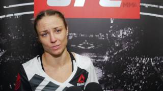 Nina Ansaroff managed to keep focus and motivation for her own victory while supporting her partner