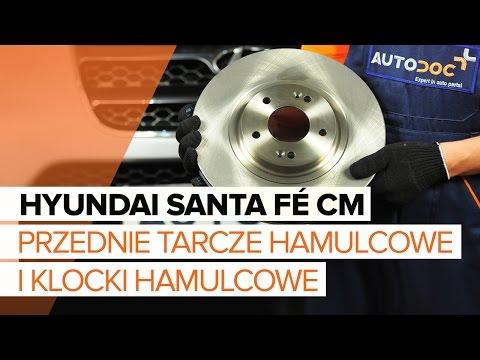 Jak wymieni przednie tarcze hamulcowe i klocki hamulcowe w HYUNDAI SANTA F CM TUTORIAL AUTODOC
