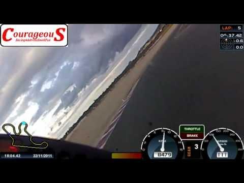 Michael van der Mark@Almeria paar laps op BMW S1000RR van Willem 1 42 5 met versleten band