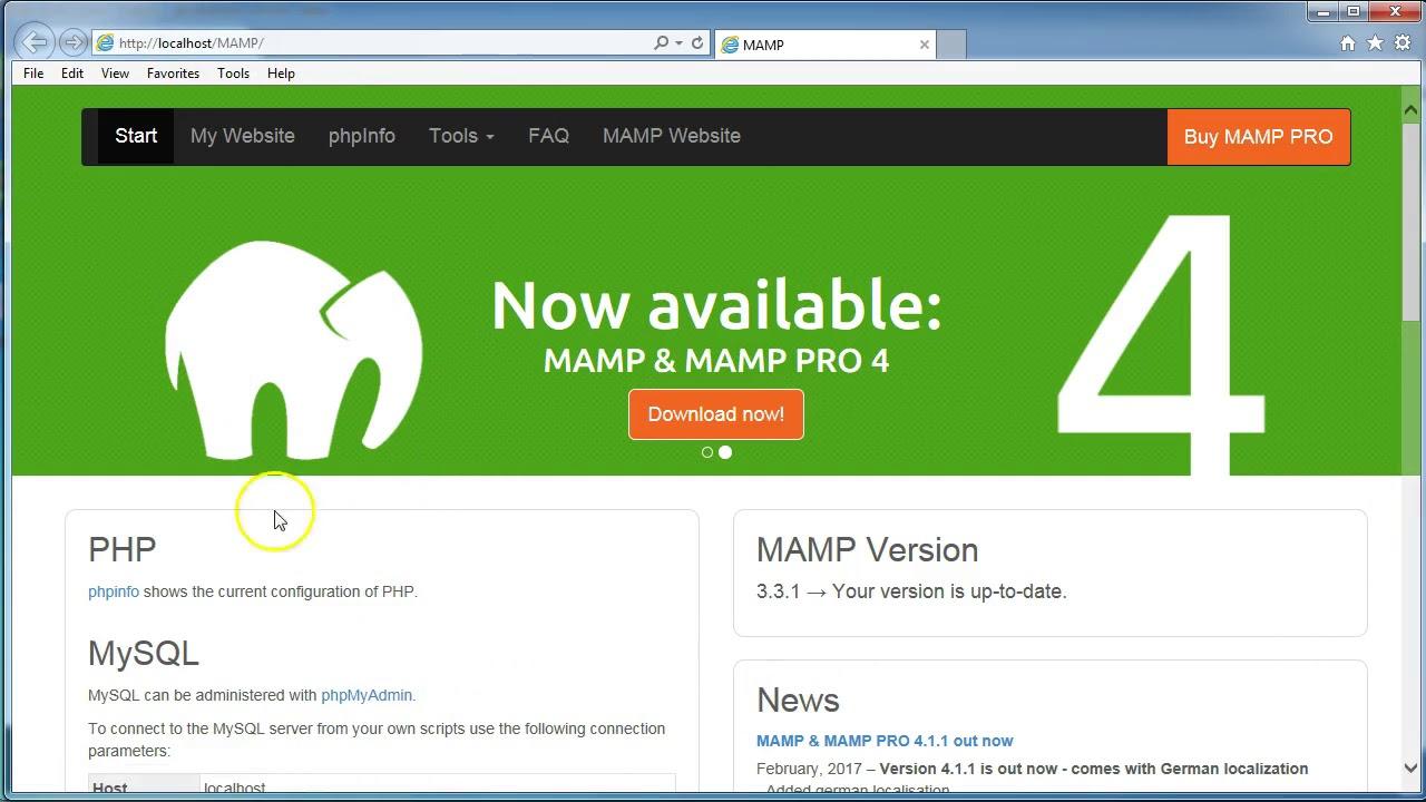 Mamp installation on Windows PC - YouTube