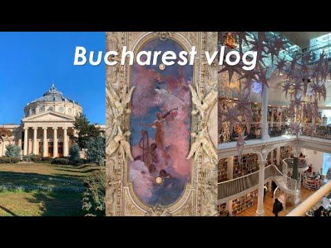 Bucharest Travel Vlog | libraries, museums, art, street food
