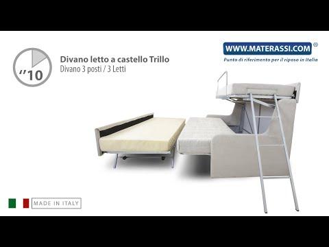 Proteas Divano Letto A Castello.Divani Letto A Castello 3 Posti Consegna Gratuita Materassi Com