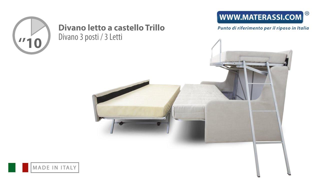 Letto A Castello A 3.Divano Trasformabile In Letto A Castello Tre Posti Letto Pronti