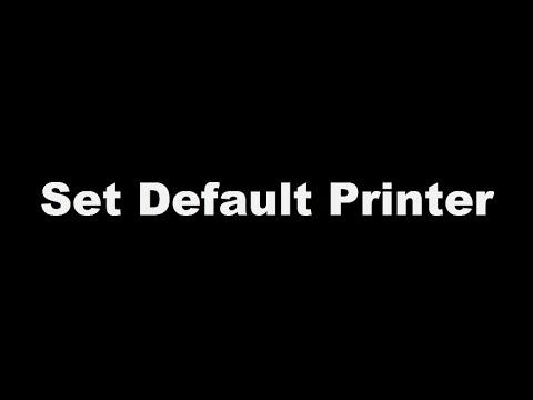 Set Default Printer