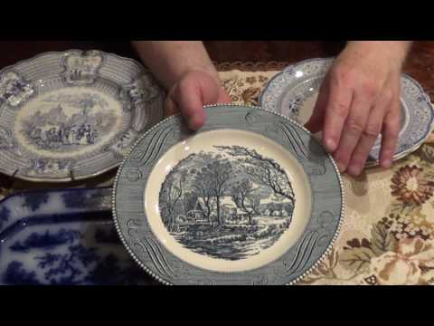 Difference between Currier & Ives dishes and genuine antiques nearly 200 yrs old