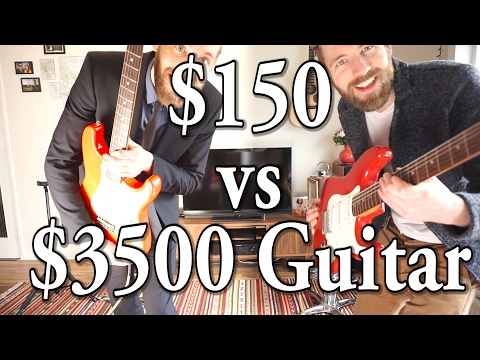 150$ vs 3500$ Guitar | Fender Custom Shop USA vs Squier China