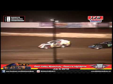 MidAtlantic Modifieds - Path Valley Speedway - Feature Highlights - July 3, 2015