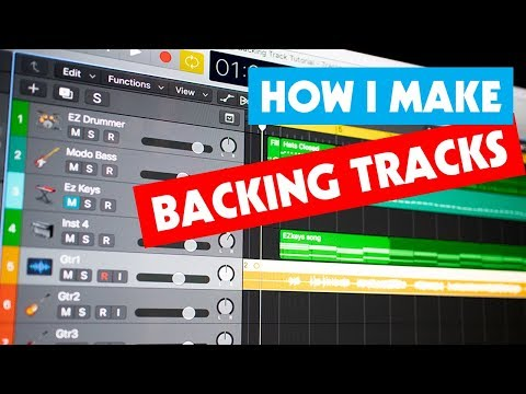 How I Make My Backing Tracks   Tutorial for Guitarists   Software I Use