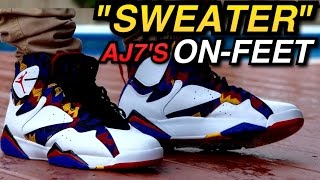 """Sweater"" Air Jordan 7 W/ On-Feet Review"