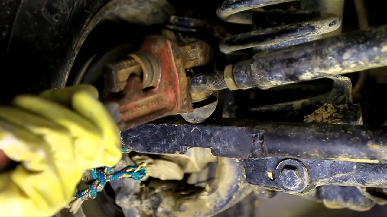 how to change a tie rod end