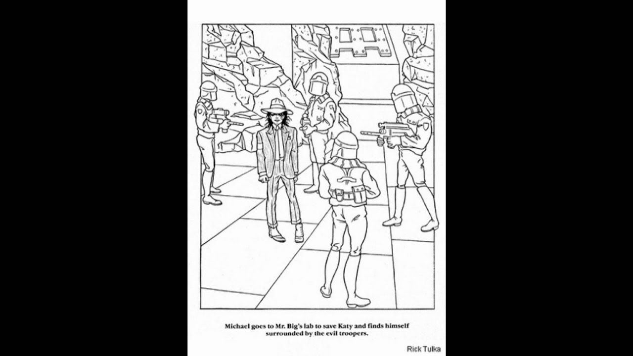 Michael Jackson Coloring Pages Thriller