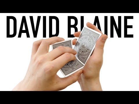 DAVID BLAINE - Card Trick Tutorial