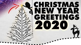 Christmas and New Year animated greeting 2020