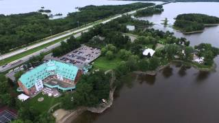 Drone video of Chateau Vaudreuil as of June 27, 2015