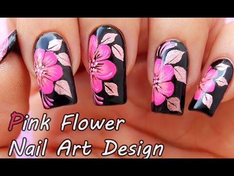 Pink Flower Nail Art Design Nail Art Tutorial For Beginners Nail Art Hacks 2017 Youtube